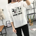Мультипликационный Персонаж Микки печати tee с длинным рукавом забавный мультфильм футболка повседневная топы для женщин белый хлопок футболки tumblr CG10015