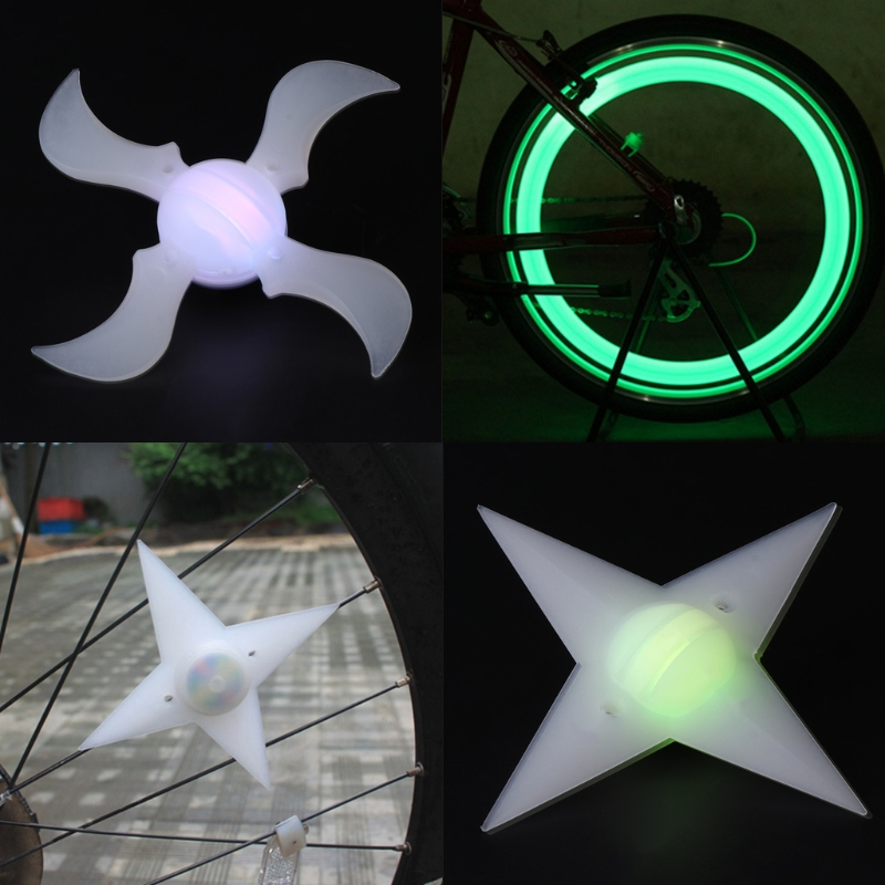 1-10X RGB Bike Bicycle Cycling LED Spoke Wire Tire Tyre Wheel Light Decor Lamp C