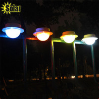 Hot Sale Outdoor Waterproof Solar Powered 5 LED Light Fence Roof Gutter Garden Wall Roof Lamp