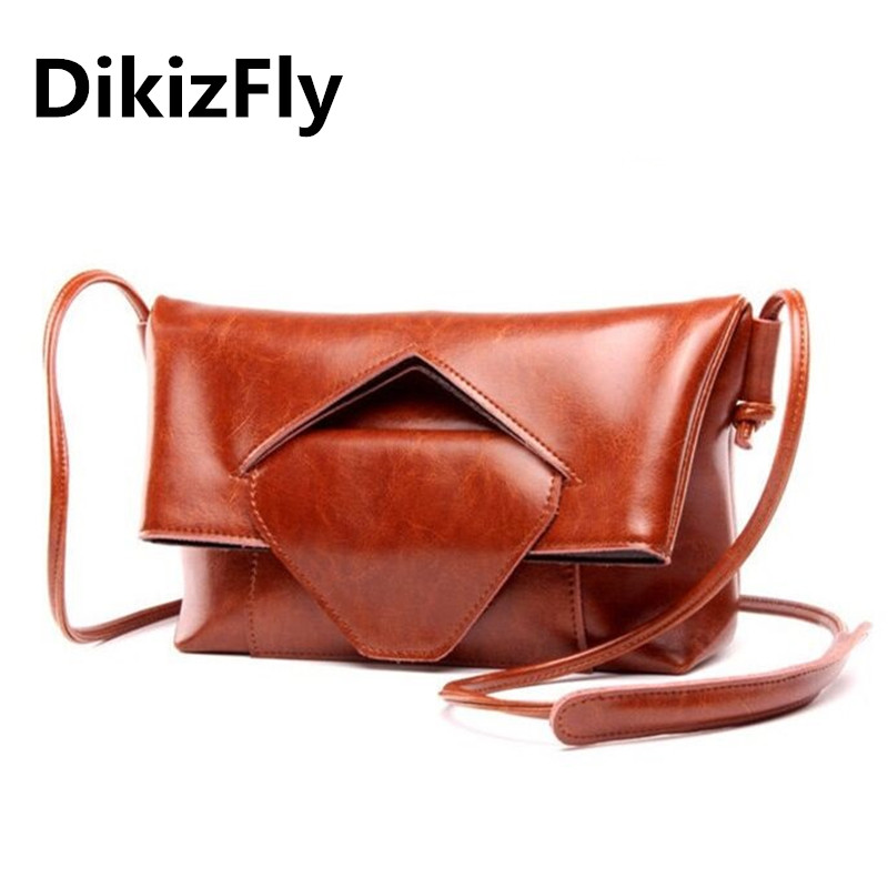 DikizFly Fashion Brand Genuine Leather Messenger Bag Famous Brand Women Shoulder Bag Women Clutch Bag Envelope Crossbody bag fashion brand pu leather messenger bag famous brand women shoulder bag envelope women clutch bag small crossbody bag