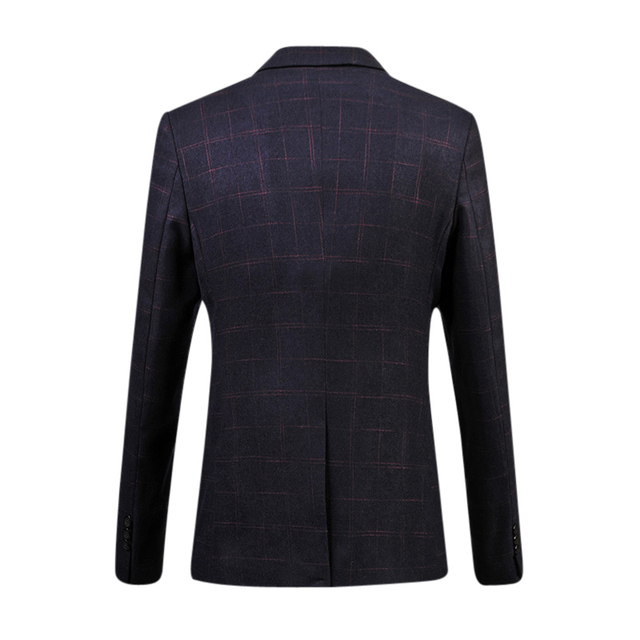 2016 New Arrival Men's Fashion Blazers Regular Plaid Smooth Delicate High Quality Suit For Man Drop Shipping MWX216