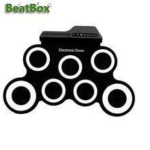 BeatBox Hand Roll USB Electronic Drum Portable Silicone Musical Instrument Set for Children and Beginners, Friends Gathering(China)