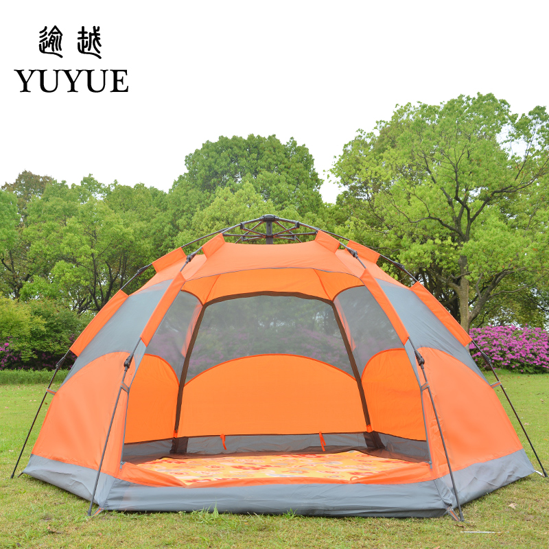 3-4 person waterproof pop up tent for winter fishing hiking outdoor Camping Tent Waterproof family party tent no-see-um mesh 2