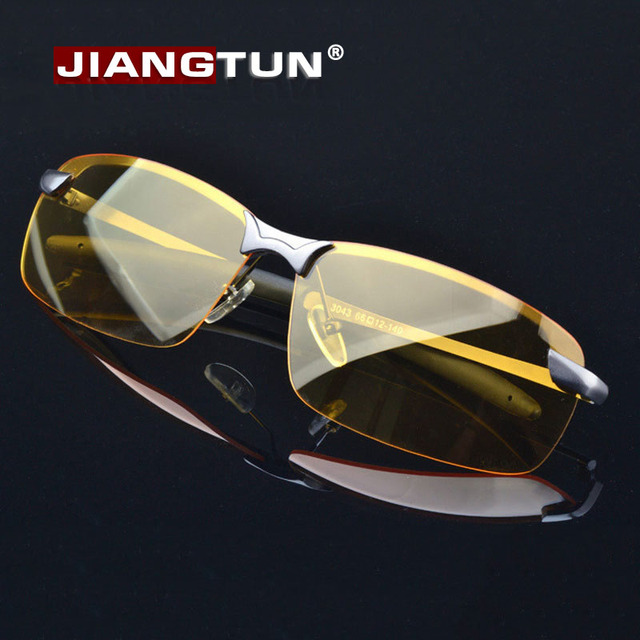 2f0828143461 JIANGTUN Night Vision Goggles 2017 Men Driving Sunglasses Polarized Sun  Glasses Enhanced Light Oculos Alloy Frame