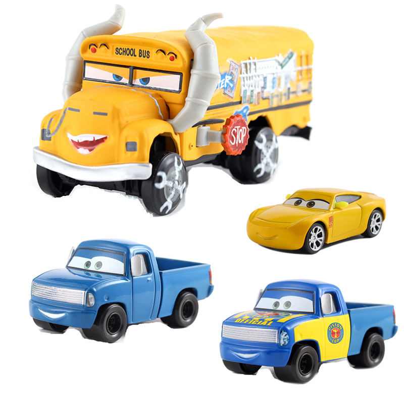 Cars Disney Pixar Cars 3 2 New Roles Storm Jackson Lighting McQueen Miss Fritter Cruz Ramirez Metal Car Toys Boy Birthdays Gift