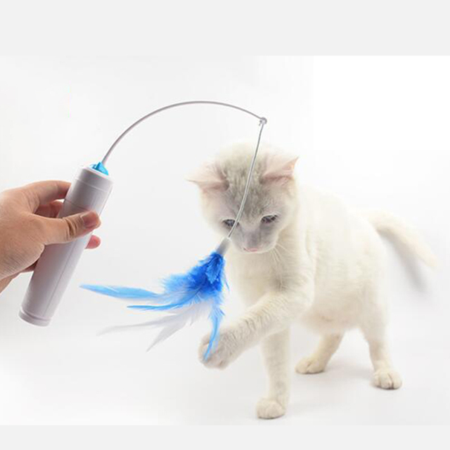 Electric Rotating Feather Toy For Cats