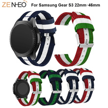 Classic Nylon Bracelet Straps For Samsung Gear S3 smart watch band wristband 46MM Replacement WatchBands
