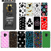 Rainbow dog footprint Paw Claw black Phone Case Cover Shell For Samsung Galaxy s7 s6edge s9 s8 plus note 8 note9 cases Babaite