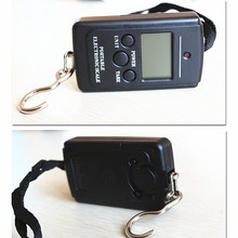 40kg x 10g Mini Portable Electronic Scale Weight Luggage Scale LCD Digital Screen Travel Hanging Hook Scale Fishing Tools