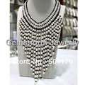Free Shipping Luxury Wedding Pearl Necklace Chunky Bib Brides Pearl Necklace FP159