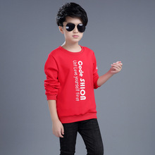 Boys clothes spring and autumn 2019 new cotton letters long sleeve student T-shirt childrens shirt