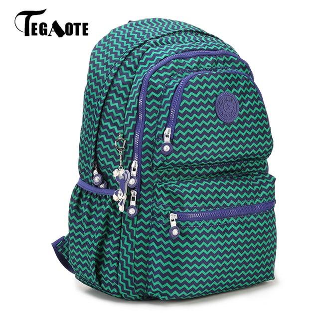 c7aad26c8b5c TEGAOTE Mochila Feminina Escolar Women Backpack School Backpacks for  Teenage Girls Nylon Bolsas Travel Bagpack Female Sac A Dos