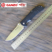 58 60HRC Ganzo G723 440C Blade G10 Handle EDC Folding Knife Survival Camping Tool Hunting Pocket