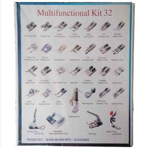 Image 4 - Прижимная лапка для домашней швейной машины, набор прижимных лапок для плетения слепых швов для Brother Singer Janome, 32,42,48,52