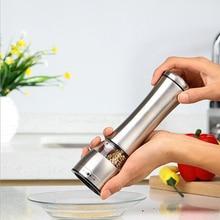 1 Stück Manuelle Edelstahl Salz Pfeffermühle Slim Fit Gewürz Salz Pfeffer Grinder Kitchen Kochen Werkzeuge T0.41
