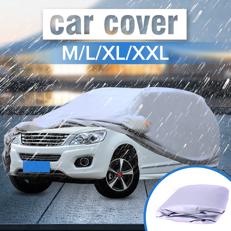 M L XL XXL Universal Full Car Cover Anti Rain Snow Ice Waterproof Dustproof UV Outdoor
