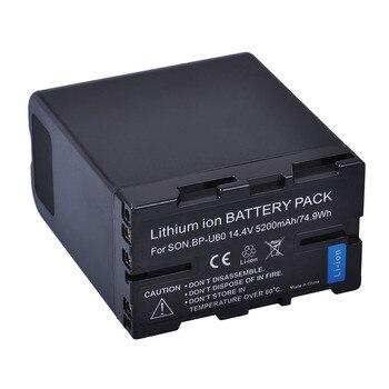 Batmax 1Pc 5200mAh BP-U60 BP U60 Rechargeable Camera Battery for Sony Camcorders PMW 300 EX1 EX1R EX3 EX3R EX280