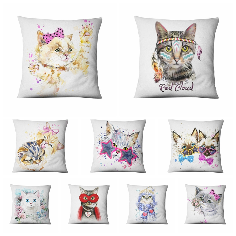 Konijn Kussen Cushion Loving Cat Cute Rabbit Pillow Sofa Throw Pillows Animal Home Decorative Cojines Fundas Home Decor Home & Garden