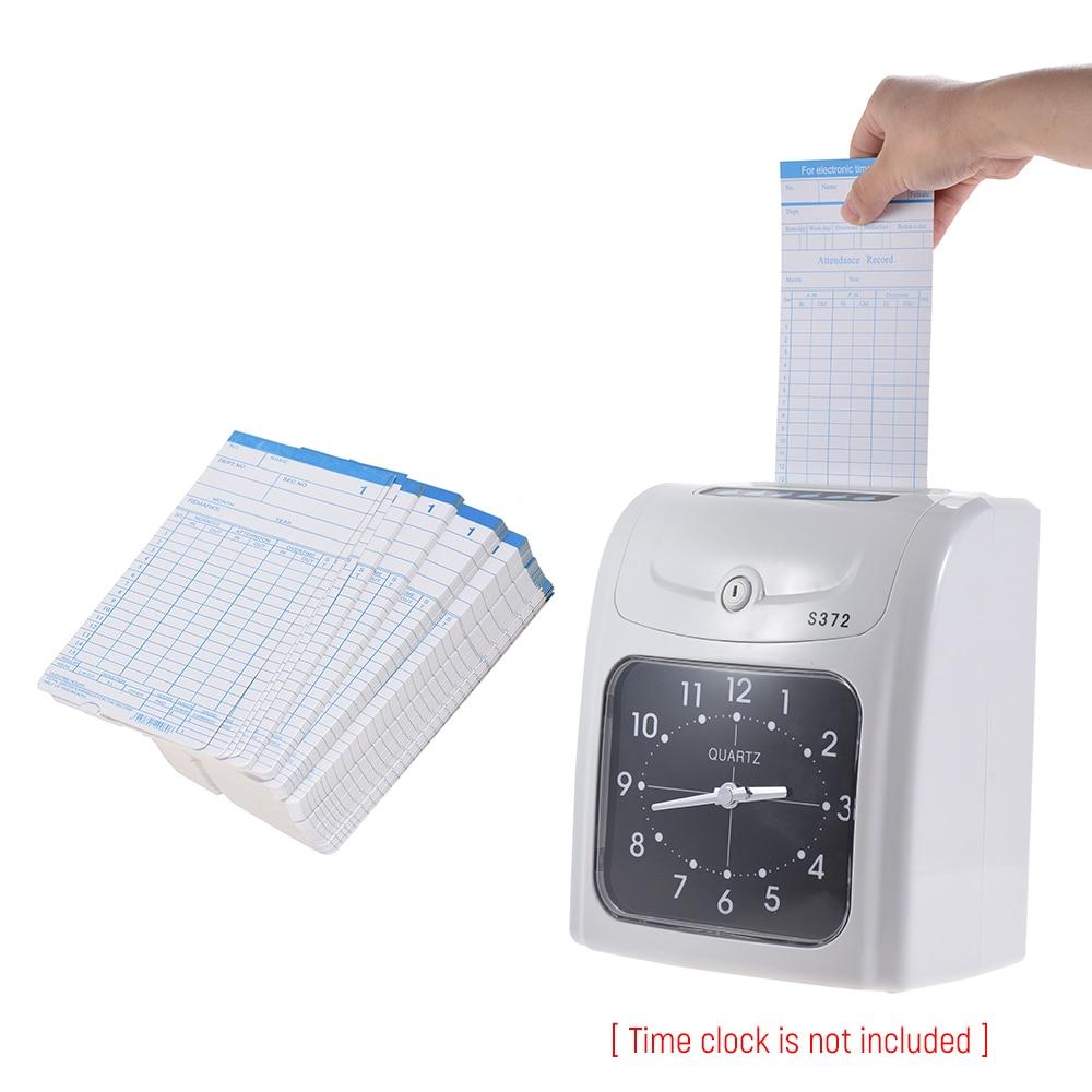 90 pz/pacco Carte del Tempo Timecards Mensile-sided 18*8.4 cm per Dipendente Presenze Time Clock Recorder Registrazione in Tempo