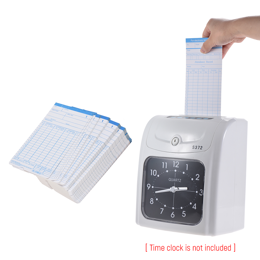 90pcs/ Pack Time Cards Timecards Monthly 2-sided 18 * 8.4cm For Employee Attendance Time Clock Recorder Time Recording