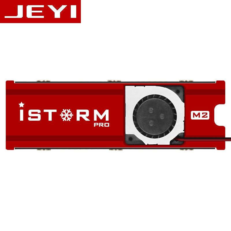 все цены на JEYI Cooling Warship Storm Fan NVME NGFF M.2 heatsink ssd aluminum sheet Thermal conductivity silicon wafer cooling fan heatsink онлайн