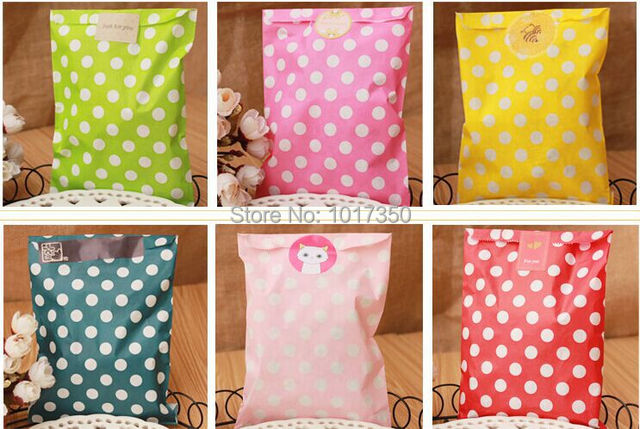 100pcs Polka Dot Paper Party Bags Snack Treats Lolly Favour Kids Candy Buffet cake bags Wedding