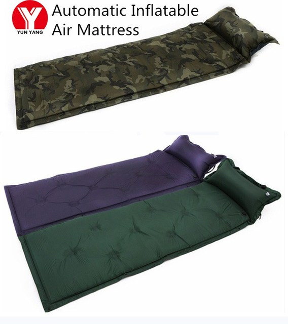 Automatic Inflatable Air Mattress Ultralight Hiking Self Inflating Mat Outdoor Picnic Waterproof Inflatable Blanket with Pillow