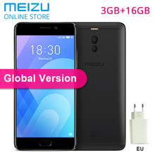 "Global Version Meizu M6 Note 3GB 16GB ROM M721H 4G LTE Cellphone Snapdragon 625 Octa Core 5.5"" 1920X1080P Dual Rear Camera 16MP(China)"