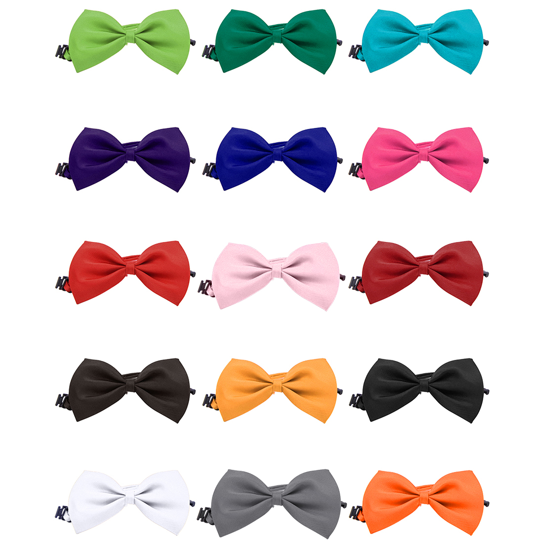 Lovely Pets Grooming Accessories Cute Dog Puppy Cat Kitten Pet Toy Kid Solid Bow Tie Necktie Clothes Cat Dog Necktie