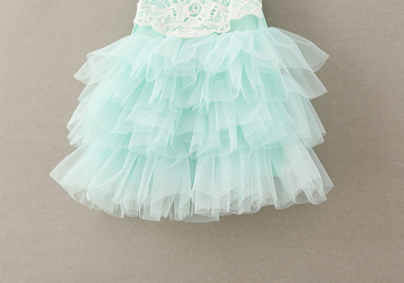 Sleeveless wedding girls party lace summer ball gowns cake dress Children  baby school lace slip dress Garments  dejorchicoco -in Dresses from Mother    Kids ... 0f646f8c2e81