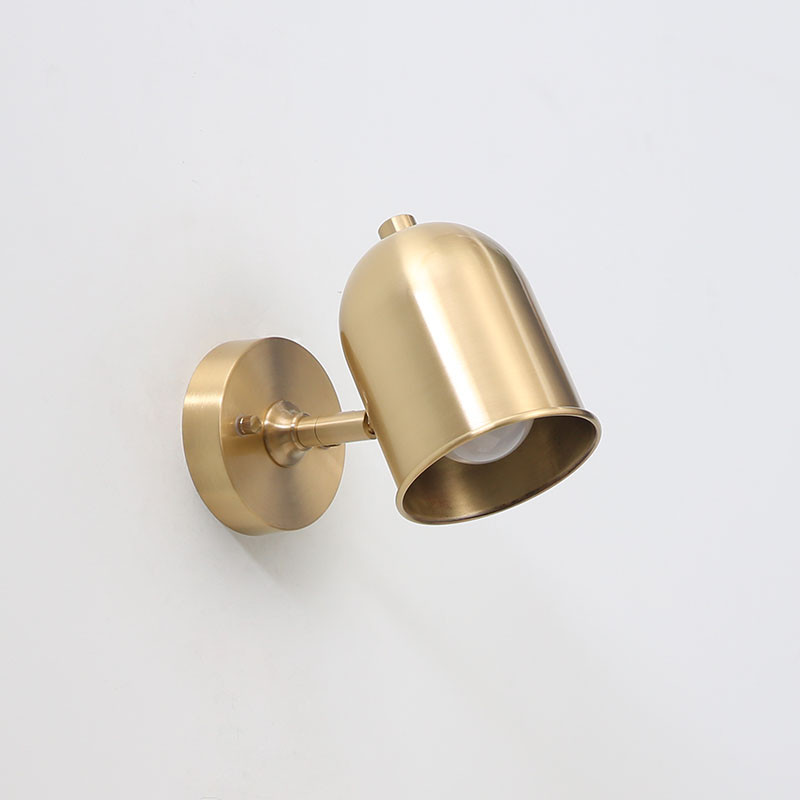 American Copper Adjust Wall Sconce Simple Vintage LED Wall Light Fixtures With Plug Switch Bedside Wall Lamp Indoor Lighting american copper adjust wall sconce simple vintage led wall light fixtures with plug switch bedside wall lamp indoor lighting