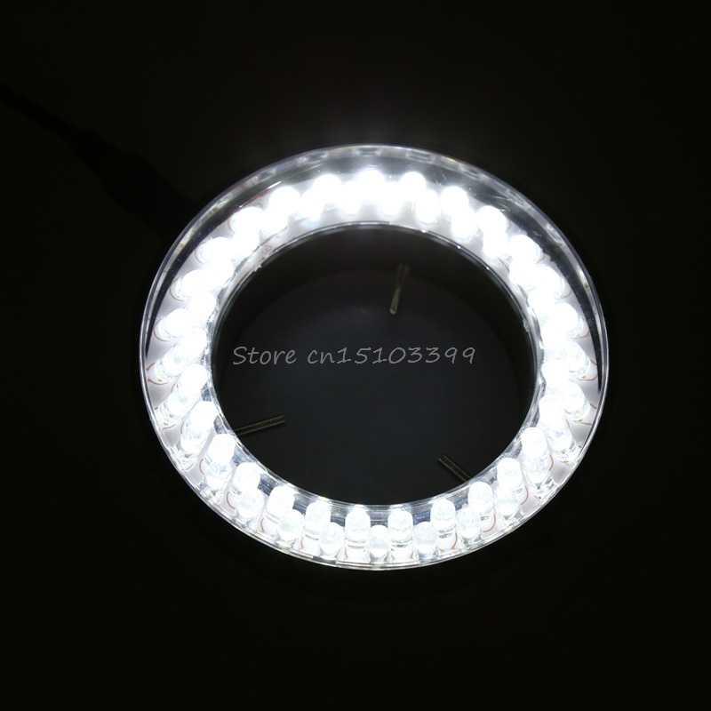 60 светодиодный регулируемый кольцевой осветитель лампа для стерео зум микроскоп ЕС вилка G08 оптовая продажа и Прямая поставка