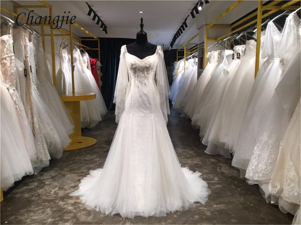 Lace Wedding Dresses 2018 Sleeveless V Neck Backless Sweep