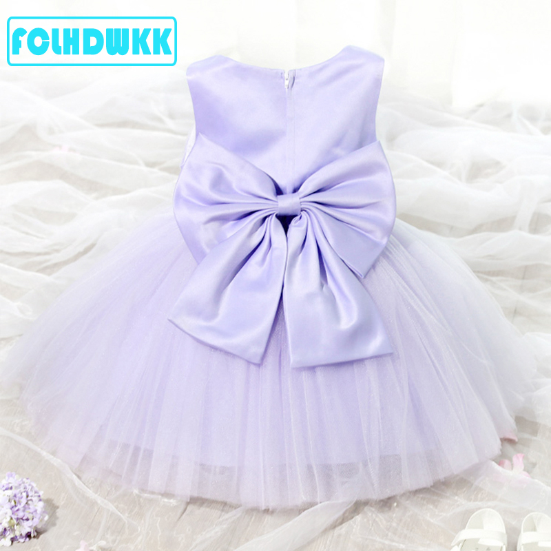 Flower     Girls     Dresses   2018 Summer New Brand Princess   Girl   Clothes Bowknot Sleeveless Party   Dress     Girls   Clothes For 80-150cm Kid