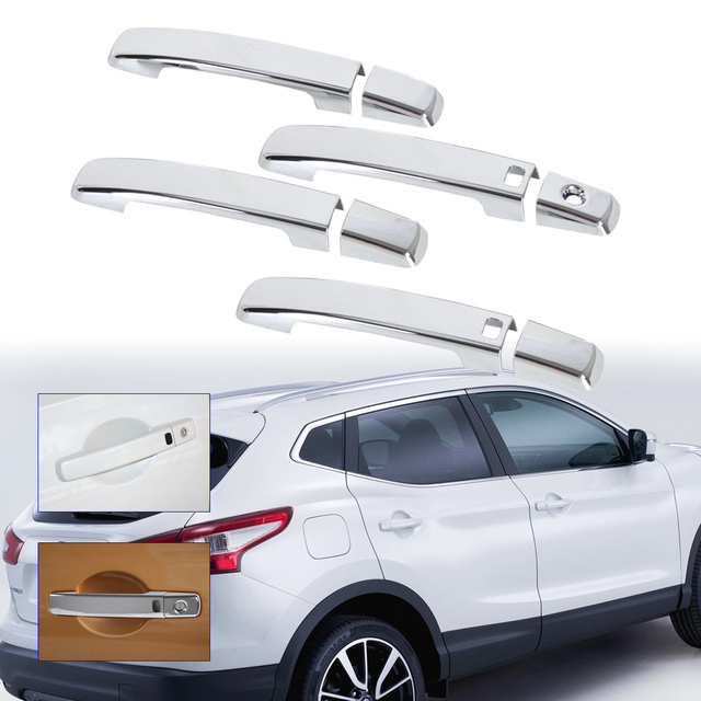 DWCX car styling Chrome Door Handle Cover with Passenger keyhole for ...
