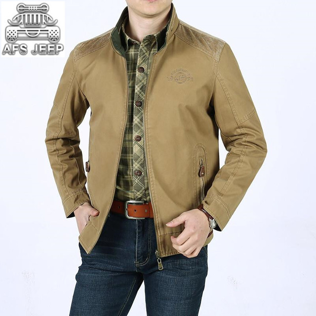 dc642214b09 Wear-resistant Reversible Men Jackets Spring and Summer Classic Casual 100%  Cotton New Design AFS JEEP Army Military Cargo Coats