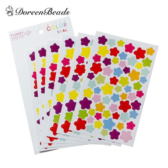 Doreenbeads Pasen Papier Multicolor Diy Deco Stickers Seals Sterren