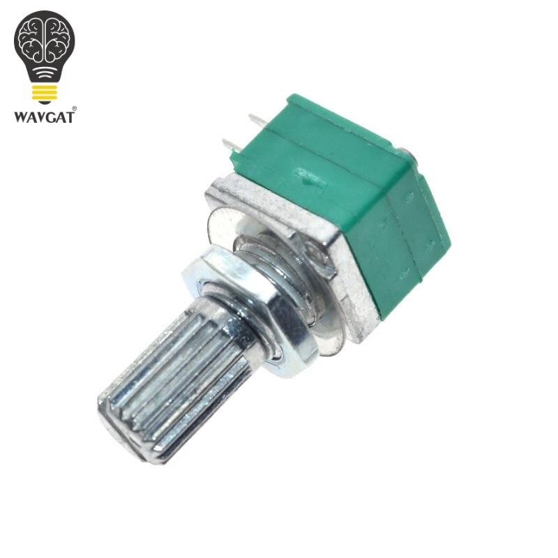 Audio Amplifier Sealed Dual Potentiometer 15mm Shaft 6 pins B10K B50K B100K OHM