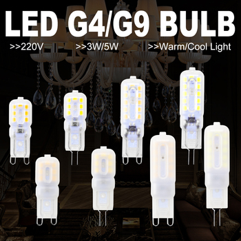 WENNI Corn LED Lamp G9 220V G4 LED Bulb 240V Bombilla LED g9 Dimmable Light Bulbs 3W Candle Light 5W Replace Halogen Lamp 2835 image