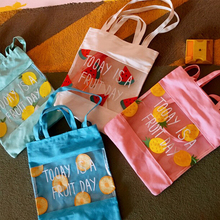 Womens Small Fresh Party Tote Bag Canvas Large Capacity Shoulder Shopping Printed Transparent