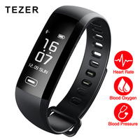 TEZER R5 MAX 0 96 Screen Smart Fitness Bracelet Push 50 Words Blood Pressure Heart Rate
