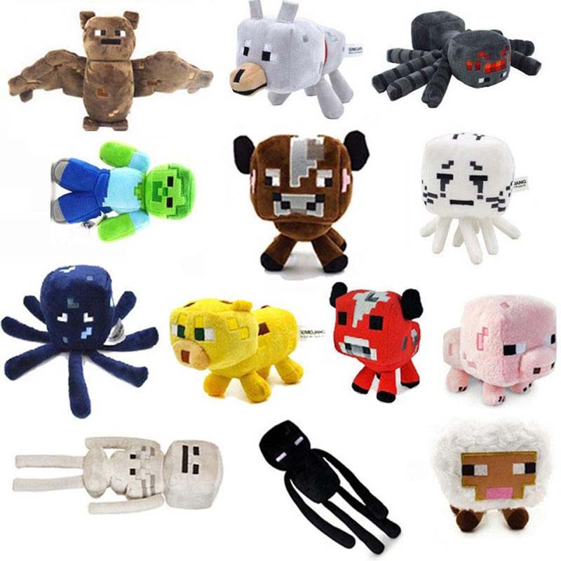 High Quality Minecraft Toy Stuffed Plush Toys Cartoon Doll Brinquedos For Kids Gift Free Shipping