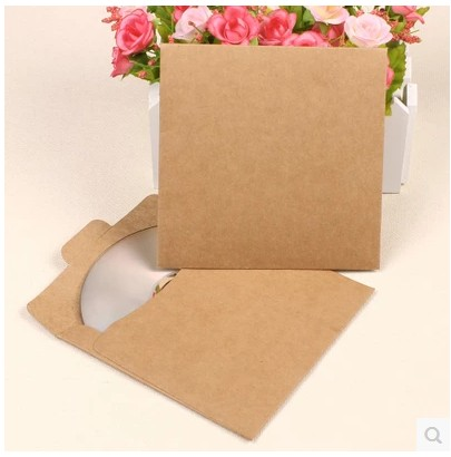 13*13cm High Quality Disc CD DVD Sleeve 250gsm Thick CD Kraft Paper Bags Cover DVD Package Envelopes Pack Packing Storage Boxes
