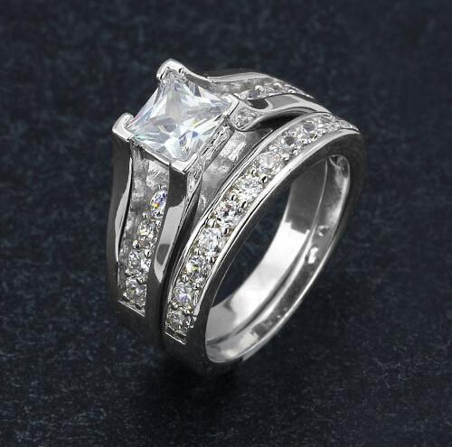 Original Design High Quality Women Wedding Ring Sets Engagement Cz