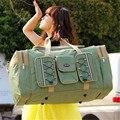 Mujeres Bolsas de Viaje de Gran Capacidad de La Muchacha Bolsas de Nylon Plegable Del Bolso de Hombro de la Lona Del Viaje Del Equipaje Bolsa De Viaje Del Envío Libre Z243
