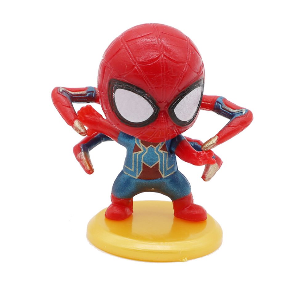 Homecoming Crawling Spiderman with Yellow Base Action Figure Model Toy Kawaii Spider Man Figure Collection for Children Gift in Action Toy Figures from Toys Hobbies