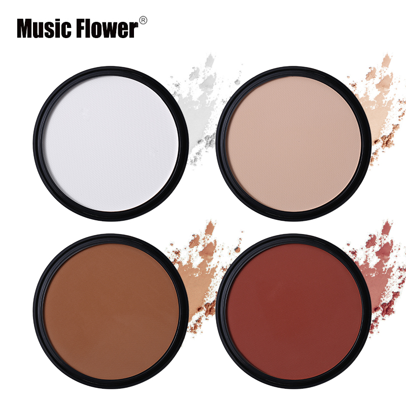 Ny stil Music Flower Brand Bronzer Pulver Blush Blusher Makeup Palette Bronzer & Highlighter Contour Shading Powder