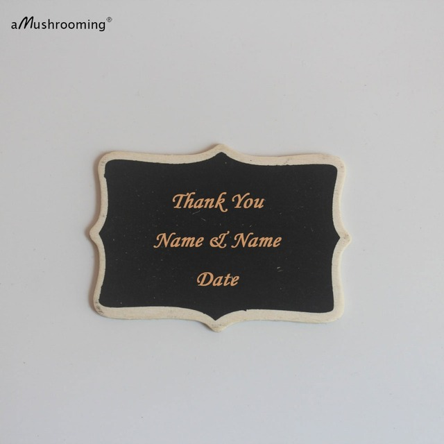 100 pieces personalized scroll fancy mini chalkboard signs wedding