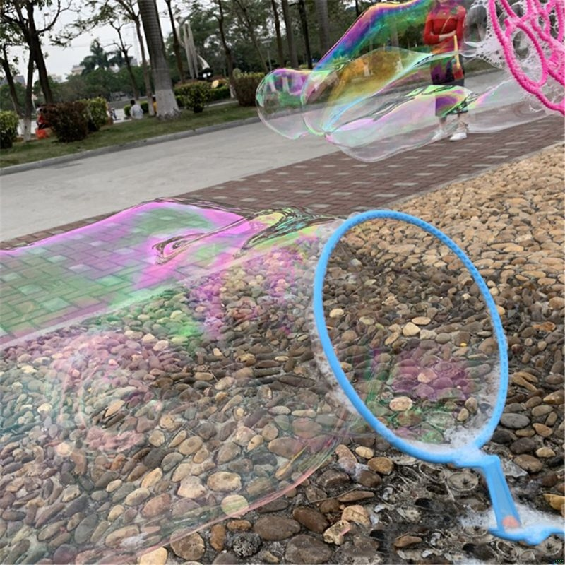 6PCS/set Jumbo Colorful Bubble Wand Bubble Blower Toy Set For Kids Summer Outdoor Fun 7IN