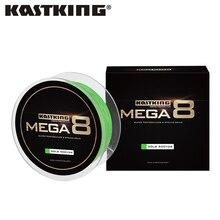 KastKing Mega8 Новый Кос Линия 300Yds/274 М 0.14 0.50 мм 10 80LB 8 Пряди Super Strong Зеленый Плетеный Лески для Морской Рыбалки